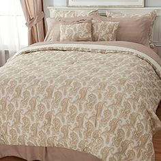 North Shore Linens™ Paisley Microfiber 10-Piece Sheet & Bedding Ensemble . Love this in the black!