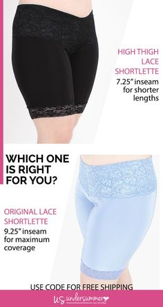 Shorts to wear under dresses plus size