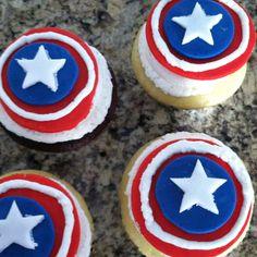 Captian America themed Happy Birthday Cake