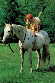 Pippi Langstrump (Pippi Langkous). Dutch postcard by Semic International, 1971.