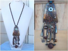 Rustic Antiqued Chic Recycled Pendant