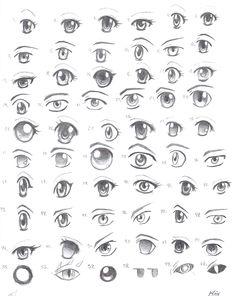 new Ideas drawing cartoon faces tutorials anime eyes Cartoon Eyes, Drawing Cartoon Characters, Cartoon Drawings, Anime Drawings Sketches, Manga Drawing, Cool Drawings, Manga Eyes, Anime Eyes, Draw Eyes
