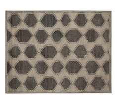 Fulton Tufted Wool Rug, 8 x 10', Charcoal #potterybarn