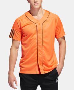 2f622bbe706 adidas Men s Baseball Jersey - Orange 2XL Adidas Originals Mens