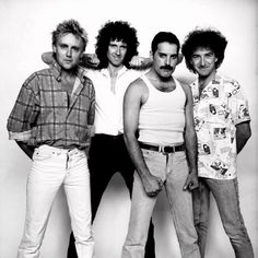 Photo 1 of 3 - Live Aid Concert photos taken of Queen on the day of their performance. As with the majority of group photo sessions during their career, everyone is at the peak of their sense of humor. Brian May, John Deacon, Queen Banda, Ibiza, Live Aid, Roger Taylor, Queen Photos, We Will Rock You, Queen Freddie Mercury