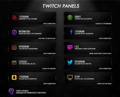 Free gfx free twitch overlay template 100 editable psd giveaway twitch panels rainbow colorsd files included more information more information twitch overlay template free maxwellsz