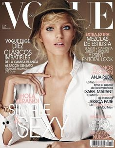 Vogue Spain June 2013: Anja Rubik photographed by Giampaolo Sgura.