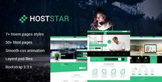 The Hoststa template ideal for web hosting, business, company, multi purpose, domain sale sites,   online business, technology blogs,  personal blogs and similar sites. You can build powerful web h...