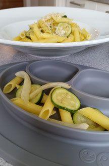 Fenchel-Zucchini-Penne mit Knoblauch und Thymian für Babys ab 6 Monate (Baby-led Weaning)