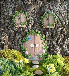Main image for Miniature Fairy Garden Ivy Door Tree Accent Fairy Garden Doors, Fairy Garden Furniture, Fairy Garden Supplies, Fairy Garden Houses, Fairy Doors, Fairies Garden, Flower Fairies, Door Tree, Fairy Tree