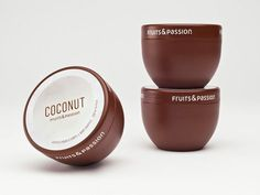Food-Formed Packaging | Fruits & Passion #packaging #food #fruits #passion #creativepackages #marketing #sales #brands #coconut