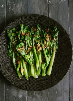 Choi Sum with Garlic Oyster Sauce Recipe by My Cooking Hut at http://www.mycookinghut.com