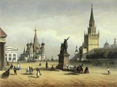 View Of Red Square (From Moscow And The Suburbs) by Charlemange, Joseph - Wall Art Giclee Print or Canvas