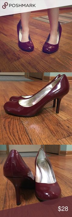"""BCBG round toe pumps  in deep red!  These are BCBG , """"Paris """"gently used round toe pumps in deep red, gently used. BCBG Shoes Heels"""