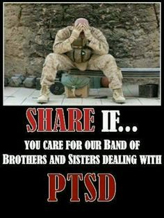 REPIN if you support our brothers and sisters in the military with PTSD