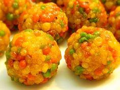 Boondi Ladoo /Motiya Ladoo /Tiranga Ladoo recipe, special marwadi ladoo, motichoor ladu - YouTube