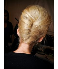 Textured french pleat