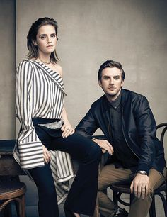 Emma Watson & Dan Stevens photographed by Art Streiber for Attitude UK, April 2017. Pinned by @lilyriverside