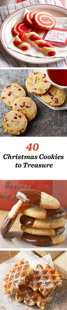 40 of our best Christmas cookies of all time: http://www.midwestliving.com/food/holiday/38-christmas-cookie-recipes-to-treasure/ #christmas #cookies #christmascookies