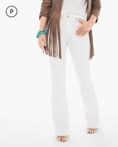Chico's Women's So Slimming Petite Girlfriend Flare Jeans