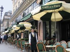"""Have been toCafe de la Paix, but only inside--it was February! Maybe next time, sitting outdoors! (And if I need a break from French food--is that possible?--they have """"American"""" club sandwich or a hamburger.)"""