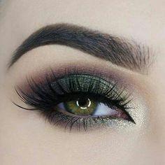 Image result for dark green eyeliner