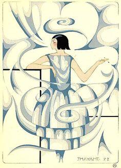 Madeleine Vionnet dress design, artwork by Thayaht, 1922