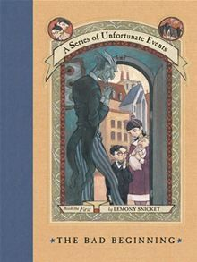 The Bad Beginning (A Series of Unfortunate Events, by Lemony Snicket. (Contemporary Fiction list) Find this and others in the series under jSeries: Series of Unfortunate Events or in the Teen Zone under YA Series. Baudelaire Children, Les Orphelins Baudelaire, Kids Book Series, Book 1, The Book, Tv Series, Netflix Series, Netflix Original Series, Book Nerd