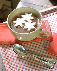 Marshmallow Snowflakes...Float these snowflake-shaped marshmallows in cups of hot chocolate.    Marshmallow Snowflakes How-to
