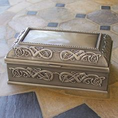 celtic jewelry box | Large Celtic Jewelry Box Mulling Pewter Irish