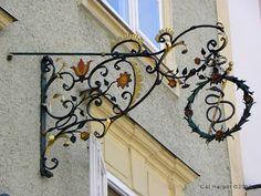 Ornate sign in Salzburg, Austria on Shutterbug Traveler