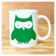 Green Owl Mug