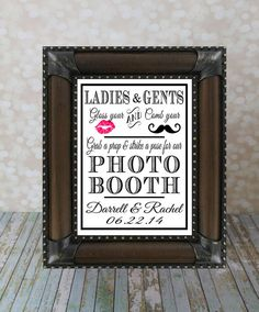 Photo Booth Props, Wedding Sign, 8 X 10 inches. Reception DIY Printable, Photo Booth Sign, Photo Prop Sign with Bride & Groom Names. on Etsy, $10.00