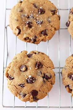 Peanut Butter Chocolate Chip Cookies - these won't last long!! (no stand mixer required)