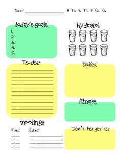 Planner Pages ~ interesting... might need to check these out