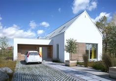 Z pomysłem 2 - wizualizacja pattern Small Modern Home, Modern Bungalow, Dream House Exterior, House Extensions, Facade Design, Tiny House Design, Facade House, House Floor Plans, New Homes