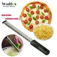 [Visit to Buy] WALFOS Stainless Steel Lemon Zester,Cheese and Spice Grater Bonus Brush Nutmeg Spices-Sharp with Non-slip Handle Kitchen Tools And Gadgets, Kitchen Supplies, Cast Iron Cookware, Functional Kitchen, Grater, Utensil Set, Food Grade, Queso, Brazilian Blowout
