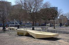 #Gecko1 à Saint-Mauront-Marseille Collectif Cabanon Vertical Béton jaune-Concrete Aménagement urbain participatif et transitoire