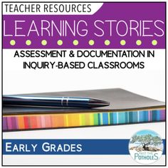 Template to help create Learning Stories in the classroom. Excellent for FDK (Full Day Kindergarten) and early grades, preschool. Assessment in inquiry-based classrooms. Learning Stories, Play Based Learning, Full Day Kindergarten, Preschool Assessment, Reggio, Teacher Resources, Classroom, Templates, Teaching