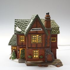 Bronze Sculpture by unknown Modernist Bronze Sculpture, Wood Sculpture, Sculptures, Dickens Village, Winter Rose, Hand Painted, Painted Porcelain, Art Deco, Cottage