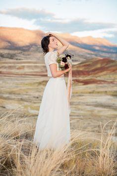 Raw & Natural Bridal Inspiration In Oregon via Magnolia Rouge