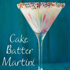 cake batter martini :) ummm.....