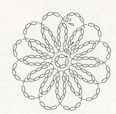 Crochet chart for daisy round
