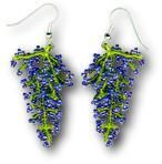 OBG -Wisteria Earrings - Emily Hackbarth, 1998.  Full how-to. #seed #bead #tutorial