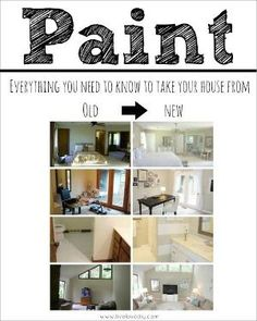 Great guide for painting your outdated trim & completely transforming you house! by robbieread