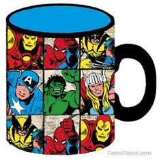 Marvel Characters Jumbo Coffee Mug--I have this mug and I drank hot chocolate out of it all winter long :) I love it
