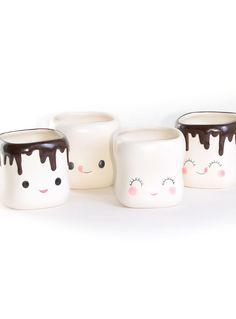 Sweet Marshmallow Mugs Set at ShopPlasticland.com