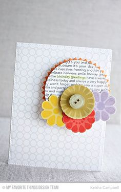Build-able Blooms, Happy Birthday Background, Simply Circles Background, Build-able Blooms Die-namics, Cross-Stitch Circle STAX Die-namics, Pinking Edge Circle STAX Die-namics - Keisha Campbell  #mftstamps