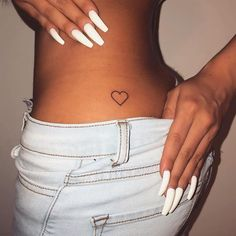 *i like this simple small tattoo idea & the placement of it., *i like this simple small tattoo idea & the placement of it. *i like this simple small tattoo idea & the placement of it. Hip Tattoo Small, Small Heart Tattoos, Dainty Tattoos, Dope Tattoos, Pretty Tattoos, Mini Tattoos, Tatoos, Small Tats, Tattoo On Hip