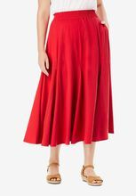 Woman Within® Soft Knit Skirt, VIVID RED Knit Skirt, Midi Skirt, Swimsuits For All, Woman Within, Plus Size Skirts, Beauty Full, Wardrobe Staples, Feminine, Knitting